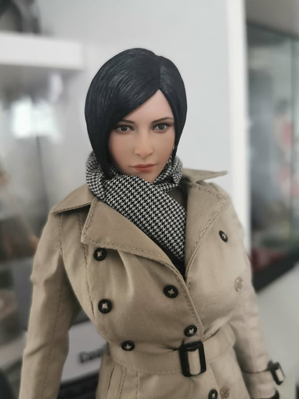 MTTOYS 1//6 Ms Wong Head Carved Ada Wong Head Sculpt Fit 12/'/' TBL Figure Body