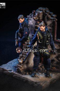 Base Figure 1/12 Background bức tường đổ sụp thời chiến