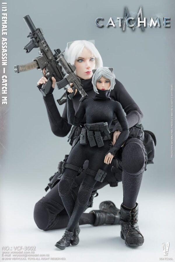 1/12 Scale VERY COOL Female Assassin Catch Me Palm Treasure Series Action Figure
