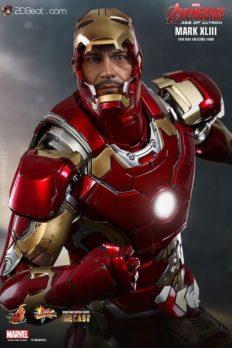 Mô Hình 1/6 Hot Toys Iron Man MK43 Mark XLIII Avengers: Age of Ultron tái bản phát hành lại