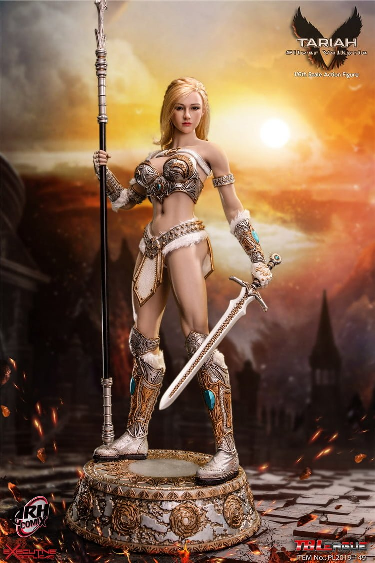 TBLeague Action Figures Tariah Silver Valkyrie Long Spear 1//6 Scale