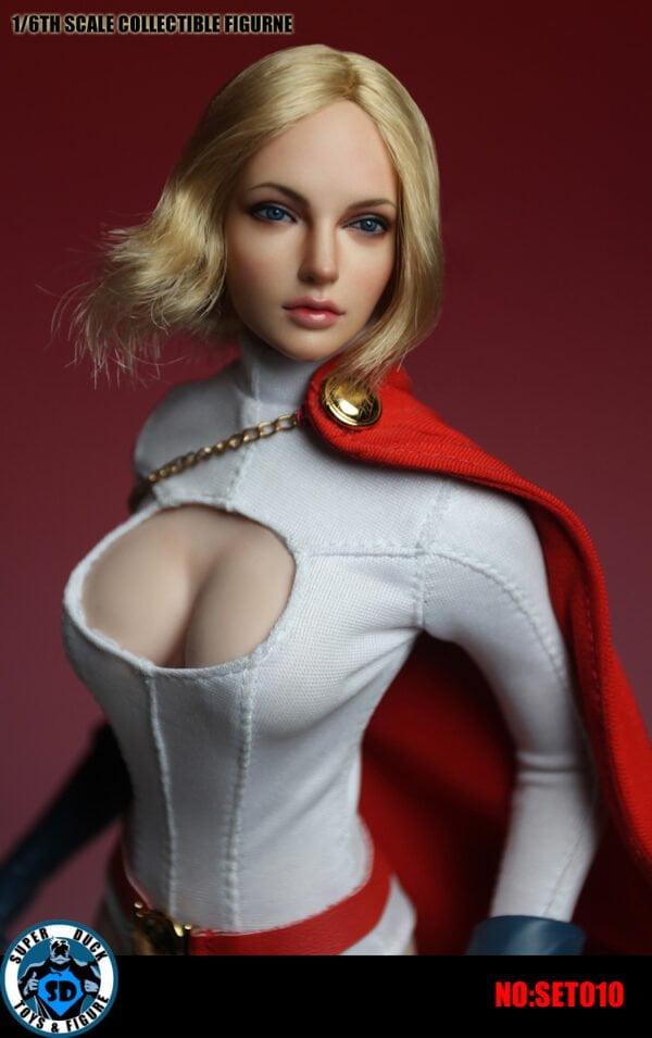 SUPER DUCK SET010 Super Woman Costume + Head Sculpt 1/6