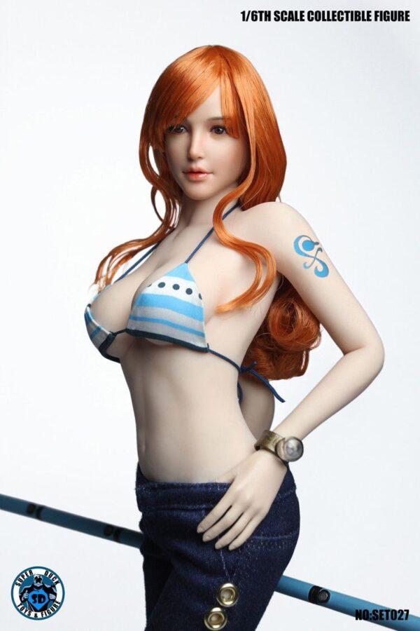 SUPER DUCK SET027 Nami (One Piece) FullSet + Body Phicen