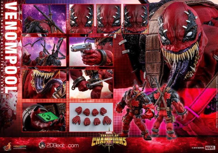 Hot Toys VGM35 Marvel Contest of Champions Venompool 1/6