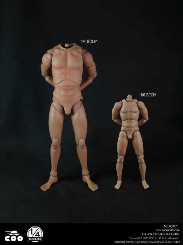 """1/4 Scale COOMODEL HD001 18"""" Action Figure Body"""
