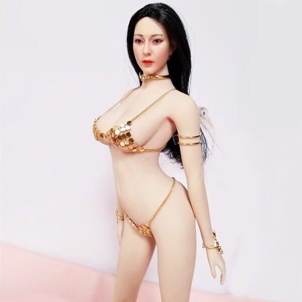 Female Metal Bikini Underwear Swimsuit 1/6