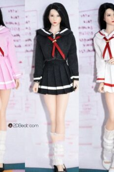 1/12 School Girl Uniform Dress Set For PHICEN Female Body
