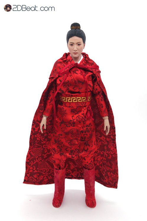 1/6 Scale Ancient Chinese Girl Red Dragon Clothing Set JPAA106