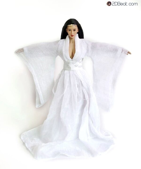 1/6 Scale Ancient Chinese Girl White Dress JPAA105