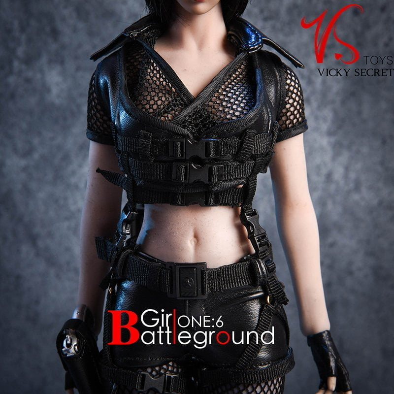 """1:6 Vstoys Battleground Girl Clothes Battle Suit WIth Shoes F 12/"""" Body"""