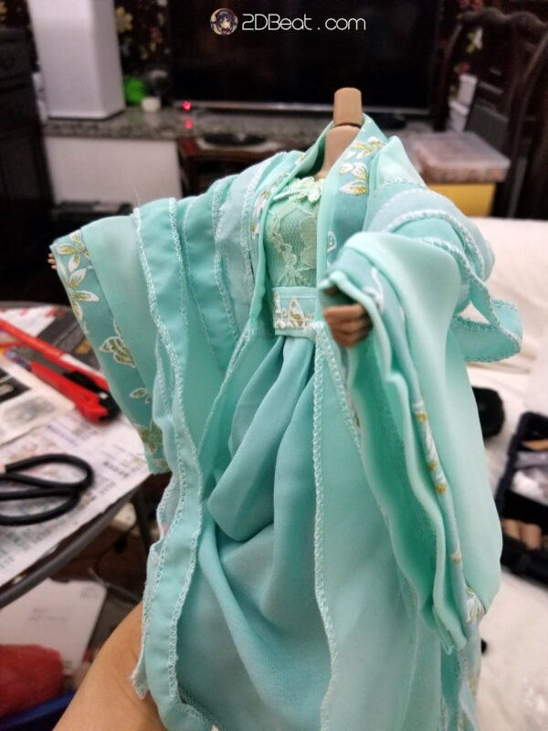 1/6 Ancient Chinese Female Cyan Dress JPAA100 for Ud, Phicen, Jiaoudoll