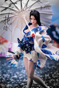 1/6 Girl Kimono Dress Japanese  For 12