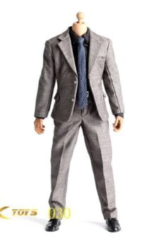 1/6 scale JXTOYS-030 Dark Gray Men's suit for male body