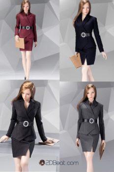 1/6  Office Lady Female Suit Set Skirt Version