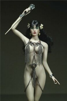 Phicen Female Custom 1/6 Female Metal Tassel Clothes Set