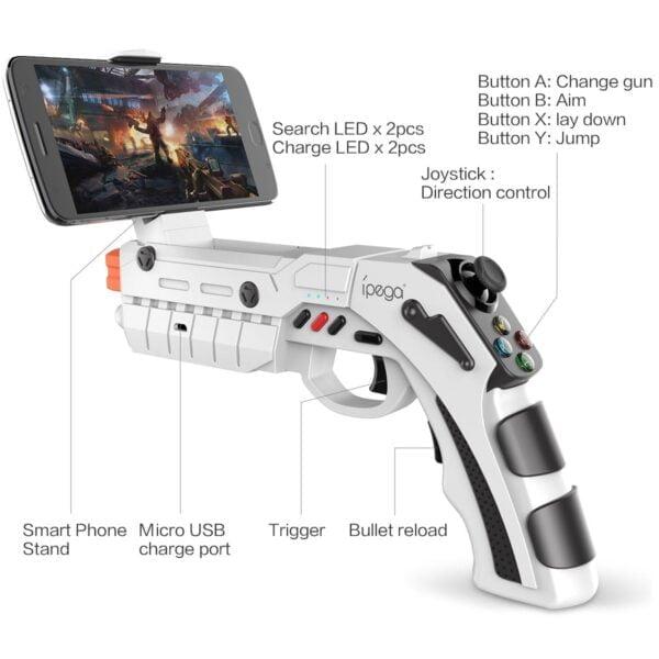[Order] Tay cầm game iPEGA PG-9082 Bluetooth hỗ trợ game VR, có rung