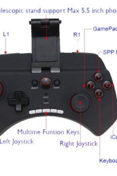 [Order] Tay cầm game iPEGA PG-9025 không dây hỗ trợ điện thoại, PC