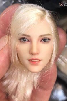 """[In-Stock] 1/6 Scale Female Blonde Head Sculpt Fit 12"""" TBleague Seamless Figure Body"""