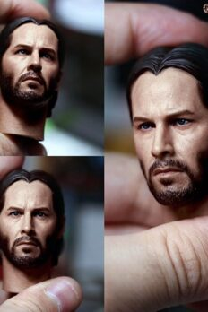 "[In-Stock] Eleven 1/6 Scale Keanu Reeves John Wick 2.0 Head Sculpt for 12"" Action Figure"