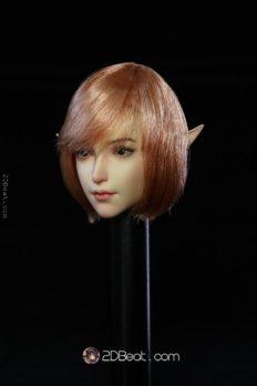 Head Nữ 1/6 Super Duck - Elf Tóc Hồng / Tai có thể thay thế
