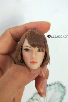 [In-Stock] Head Sculpt 1/6 SUPER DUCK European American Female Brown Short Hair