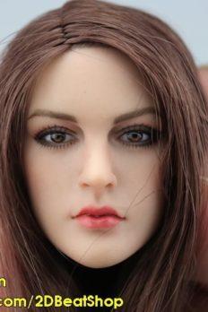 HEAD Nữ 1/6 tóc nâu Âu Mỹ