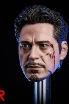 Head 1/6 MK5 2.0 Tony Stark Damaged Ver.