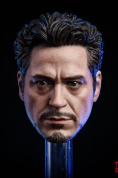 Head 1/6 MK5 2.0 Tony Stark Damaged Ver.