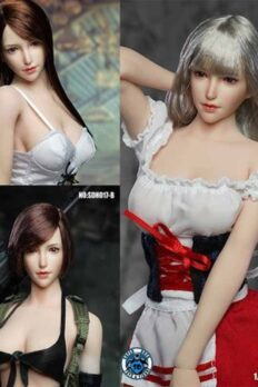 Head 1/6 SUPER DUCK SDH017 Pale Skin - A