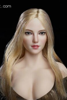 "[In-Stock] SUPER DUCK Female Blonde Long Hair Head Sculpt For 12"" Action Figure"