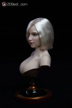 1/6 Super Duck Female Head Sculpt with Silver Hair