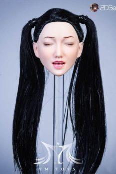 Head Nữ 1/6 YMTOYS Lola mặt biểu cảm Phê + Tóc cấy