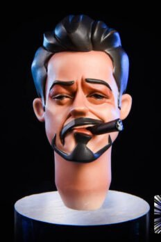 Head Male 1/6 - Tony Stark Cartoon Head Kèm Kính