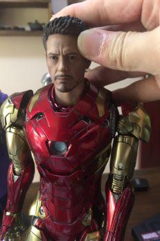 Head 1/6 Tony Stark Copycat phù hợp với Hottoys Mk43 Mk45 Mk46