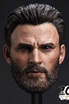 Head 1/6 Captain America phiên bản Avengers 4: Endgame