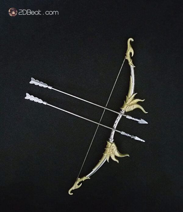 1/6 Scale Weapons Chinese Ancient Traditional Alloy Bow and Arrow