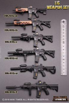 1/6 Scale MiniTimes HK416 PUBG Guns Model Toy 6 Styles